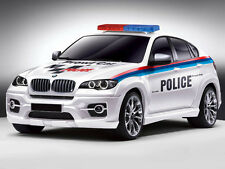 Licensed 1:14 BMW X6 RADIO REMOTE CONTRO POLICE CAR SPORTs LIGHTS FAST SPEED TOY