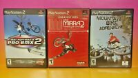 Mat Hoffman Dave Mirra BMX 2 Mountain Bike - PS2 Playstation 2 Game Lot Works
