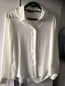 White Sheer Blouse Size 14