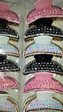 Joblot 12 pcs Mixed colour sparkly Plastic hair clips 9 cm NEW wholesale lot 9