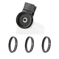 Zomei 3 in 1 Phone Camera Lens 37mm Star Cross Twinkle Filters Lens Kit Clip On