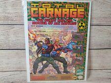 Total Carnage Super Nintendo SNES Promotional Magazine Art Ad Poster