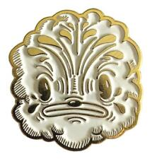 KLOES INDRA (WHITE & GOLD) ENAMEL PIN BY CREAMLAB