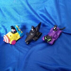 Batman Returns McDonald's Happy Meal Figures Toys Cars Set of 3 1991, all work