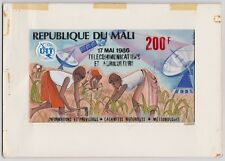 MALI 1986 UIT AGRICULTURE ORIGINAL DRAWING ARTWORK ADOPTED DESIGN #534 UNIQUE