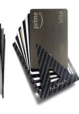 ALPHA Minimalist Wallet Money Clip Carbon Fiber RFID Blocking Card Holder
