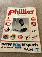 1970 Philadelphia Phillies Program vs San Diego Padres OLLIE BROWN COVER