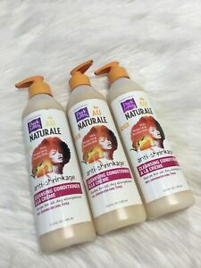 3 Dark and Lovely Au Naturale Anti-Shrinkage Cleansing Conditioner 13.5 Oz Bs13