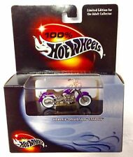 Hot Wheels 100% Black Box Harley Davidson FATBOY w.RR's Real Rider Free Shipping