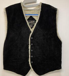 Vintage Men's  Gilet Katch  Me To West Large Distressed Black