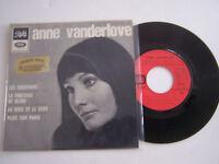 EP 45 TOURS VINYLE 4 T , ANNE VANDERLOVE , LES SOUVENIRS . VG / EX