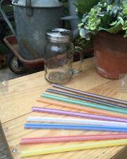 Eco Friendly Reusable Straws Jumbo Smoothie Juicer Straw Set Dishwasher Safe 10