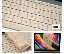 Golden Silicone Keyboard Cover Skin For Apple Macbook Pro MAC 13 15 17 Air 13