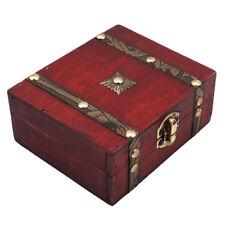 Small Jewelry Storage Treasure Chest Handmade Wood Box Case Lock Jian