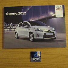TOYOTA YARIS HYBRID GT86 FT-Bh FCV-R NS4 diji Concept Press Brochure GENEVA 2012