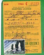 Washington 1970 Resident Citizen Hunting License Rw37 Duck Stamp - 779