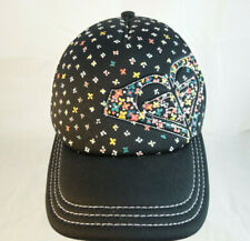 LADIES ROXY SNAPBACK TRUCKERS CAP Black with Flower Pattern one size fits all