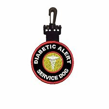 Diabetic Alert Patch Service DOG DOUBLE SIDED CLIP ON ID TAG C-203 Patch