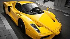 "Poster 24"" x 36"" Ferrari Enzo Luxury Yellow"