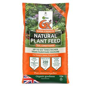 6X Natural  Fibrous Chicken Manure Fertiliser - 15kg bag