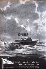 1943 'WALTON' Wartime High-Speed Motor Launch Ad #1 - WW2 Naval Print Advert
