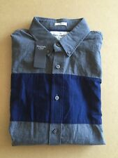 Abercrombie & Fitch para hombre de Superdry, talla M-BNWT-Gris Y Azul Marino