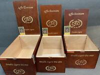 La Flor Dominicana Lot Of 3 Empty Cigar Box Wood Box Storage Craft Tree Stash