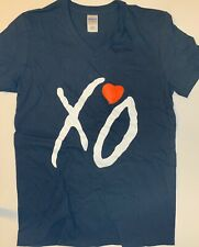 XO Black V-Neck T-Shirt, The Weeknd, OVOXO, 100% Cotton, Abel Tesfaye, Kissland