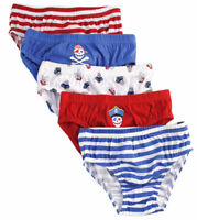 5 x Pairs Boys Kids Dinosaur Pirate 100% Cotton Underwear Pants Briefs Age 3 - 8