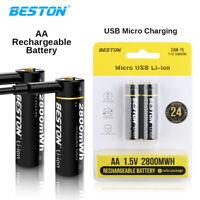 1,5V AA Wiederaufladbare Li-Ion Rechargeable Akku Batterien Batterie Beston
