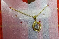 Gold Plated Necklace Pendant and Chain