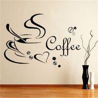 Coffee Cups Kitchen Wall Tea Sticker Vinyl Decal Art Restaurant Pub Love Decor