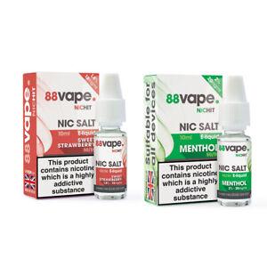 8 Vape NicHit Nic Salts 20mg 50pg / 50pv - E Liquid   UK STOCK