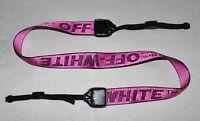 OFF WHITE  RED INDUSTRIAL BELT W35 mm NECK SHOULDER STRAP FOR DSLR CAM