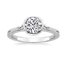 Engagement Wedding Ring Size 6 7 084 14K White Gold 1.00 Ct Round Cut Moissanite