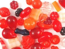 25g Czech Pressed Glass Beads - Orange Mix - Various Shapes and Sizes