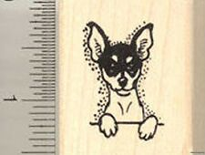 Small Toy Fox Terrier dog Rubber Stamp WM C8103