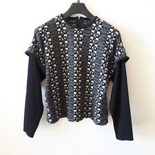 STITCHES PLUS GOLD LABEL Womens Black Grey Jumper Sweater Size 16 Checkered