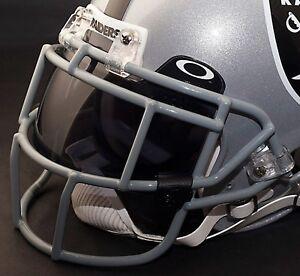 OAKLAND RAIDERS NFL Schutt EGOP Football Helmet Facemask/Faceguard (GRAY)