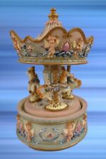 Spiel Uhr Karusell mit Musik bemahlt H.17 Nostalgie Geschenk vintage Dekoration