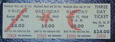 Original 1969 3 day Woodstock Ticket