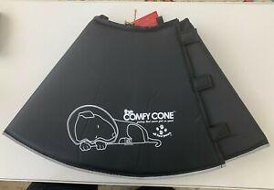 NWT All Four Paws Dog Comfy Cone E-Collar - XL Black
