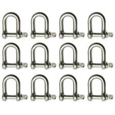 More details for 10 pack 5mm stainless steel dee shackle marine grade 316
