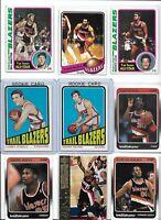 Trail Blazers All-Time Greatest Lot (15) Different w/ Rookies Steele Petrie EX