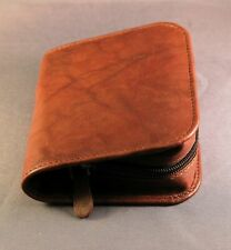 CLOSEOUT - Diabetic Glucometer / Glucose meter leather case - Calf Antique brown