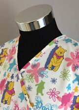 The Wonderful World of Disney Women's Large Pooh Bear Crossover Scrub Top (A82)