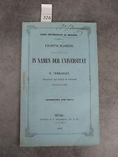 Verhaegen 1856-57 In namen der universtät Monoyer ophtalmologie optique médecine