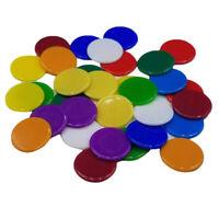 100 pezzi di gettoni da poker monete tinta unita fornitura di giochi per