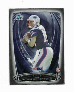 Jimmy Garoppolo Rookie NE Patriots RC NFL QB 2014 Bowman Chrome Football Card