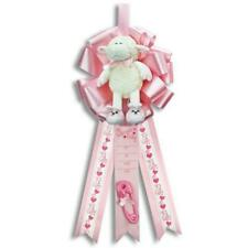 Baby Girl Lamb Pink It's a Girl Birth Announcement Hospital Door Hanger
